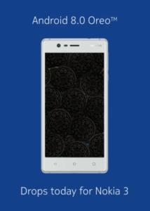 Android 8.0 Oreo su Nokia 3