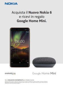 Nuovo Nokia 6 + Google Home Mini