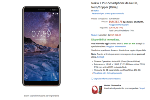 Offerta Amazon - Nokia 7 Plus