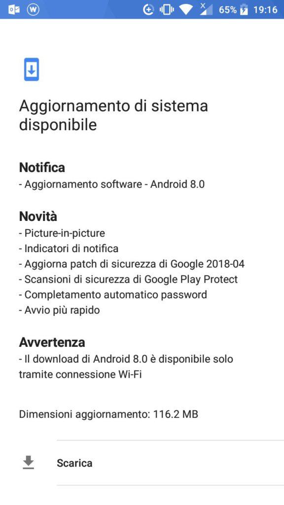 Android 8.0 Oreo arriva su Nokia3