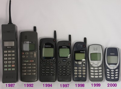 Alcuni dei primi cellulari Nokia