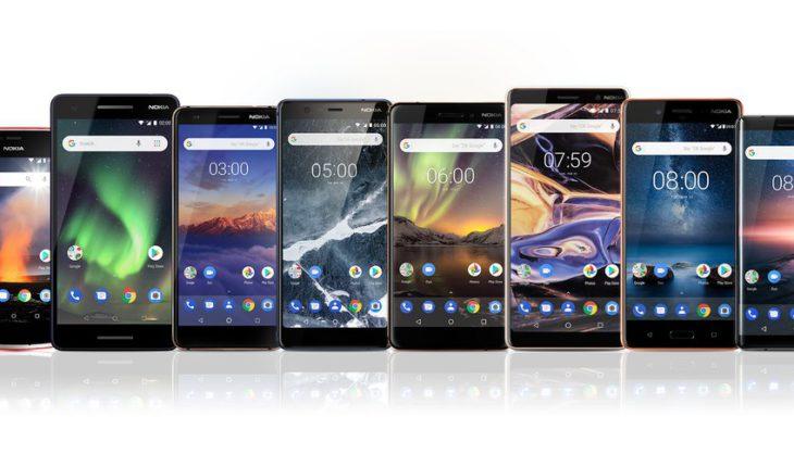 Gamma di dispositivi Nokia Android (2018)