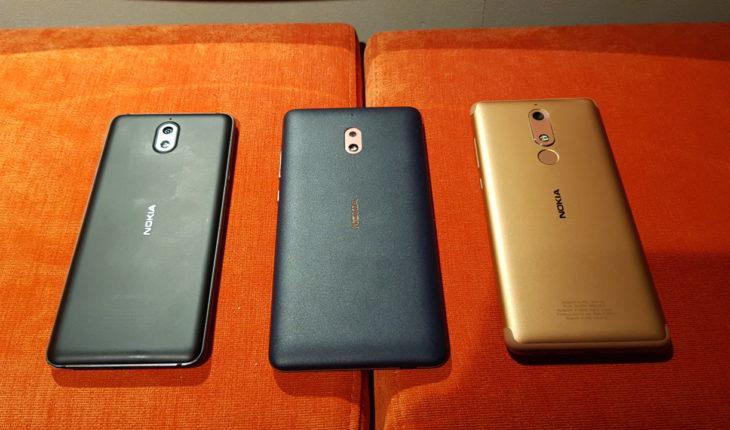 Nokia 3.1, Nokia 2.1 e Nokia 5.1