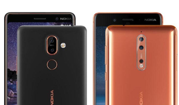 Nokia 7 Plus e Nokia 8