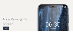 Il manuale d'uso del Nokia X6