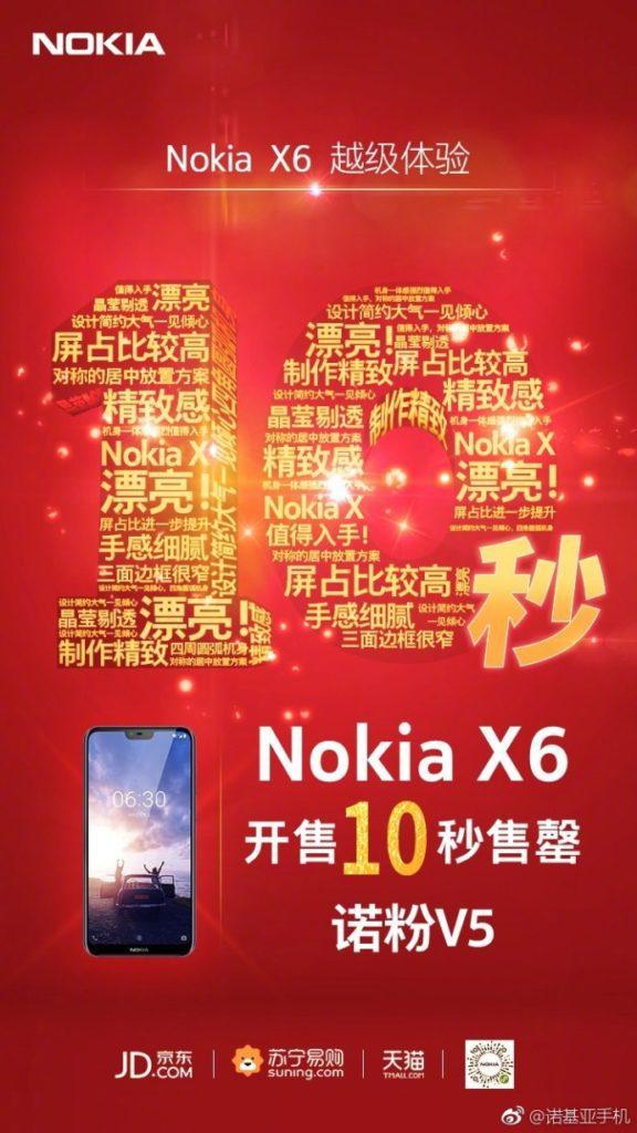 Nokia X6 venduto in 10 secondi