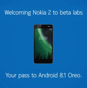 Nokia 2 - Beta testing Android 8.1