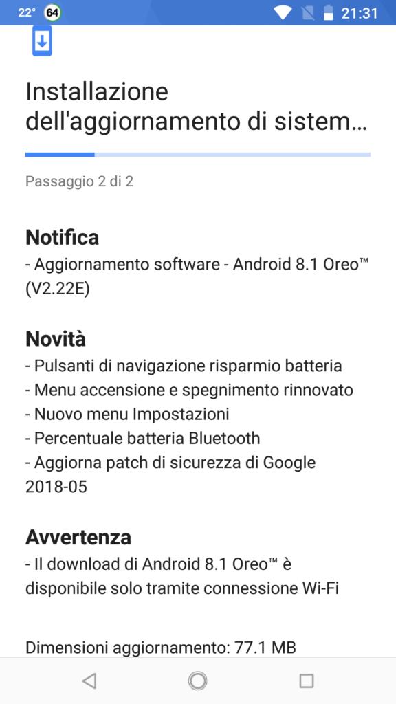 Android 8.1 Oreo (v2.22E)