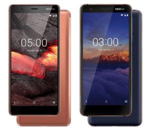 Nokia 5.1 e Nokia 3.1