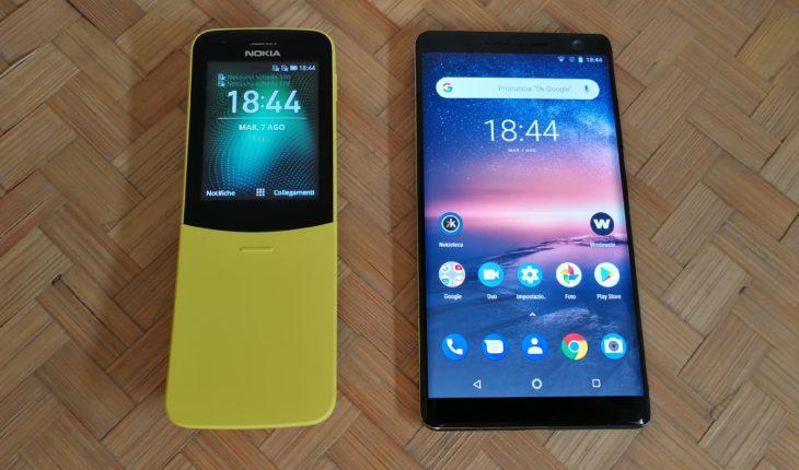 Nokia 8110 e Nokia Sirocco