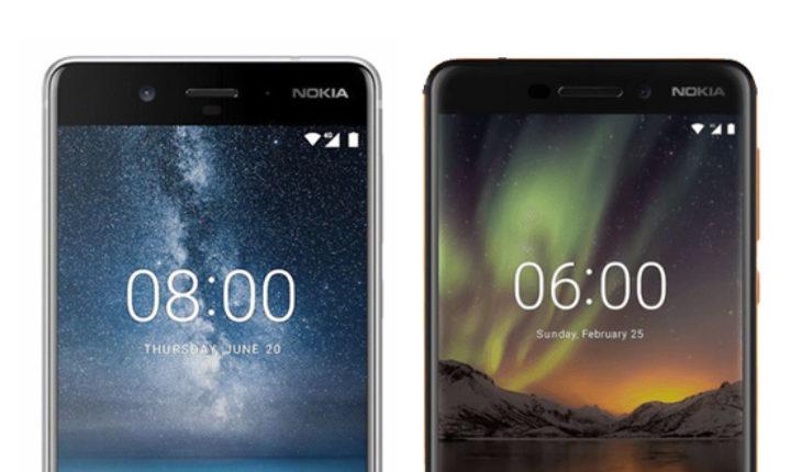 Nokia 8 e Nokia 6.1