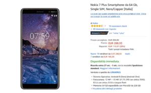 Offerta Amazon: Nokia 7 Plus