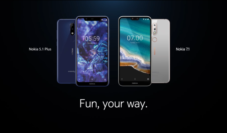 Spot Nokia 5.1 Plus e Nokia 7.1