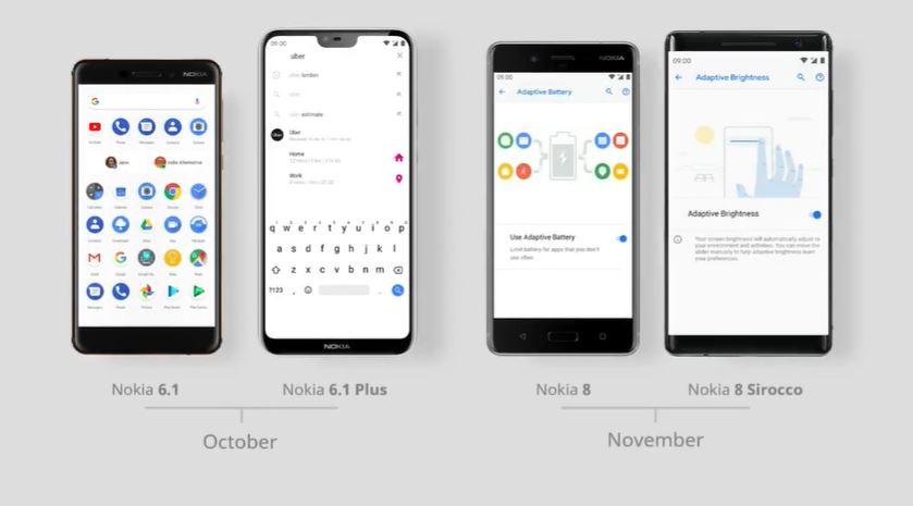 Android Pie su Nokia 6.1\Plus, Nokia 8 e Nokia 8 Sirocco