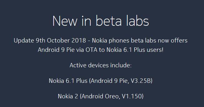 Beta Testing Android per Nokia