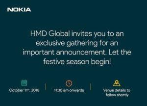 Evento HMD Global - 11 ottobre