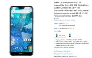 Nokia 7.1 su Amazon