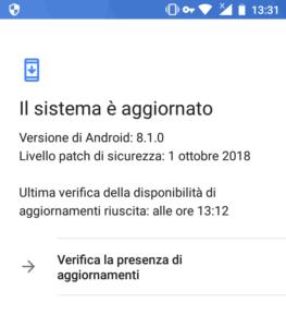 Patch sicurezza ottobre 2018