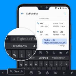 Funzione Cerca - Tastiera SwiftKey