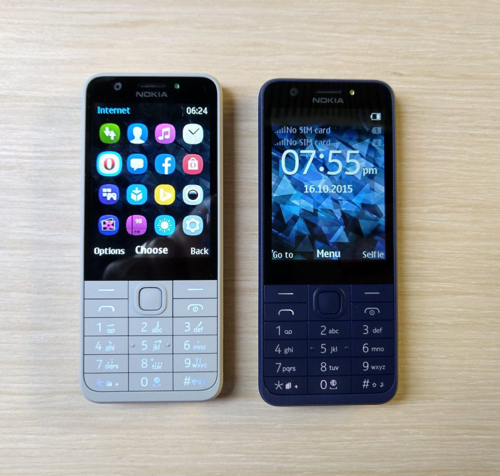 Nokia 230 Light Grey e Dark Blue