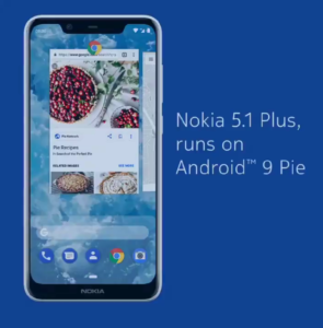 Nokia 5.1 Plus - Android 9 Pie
