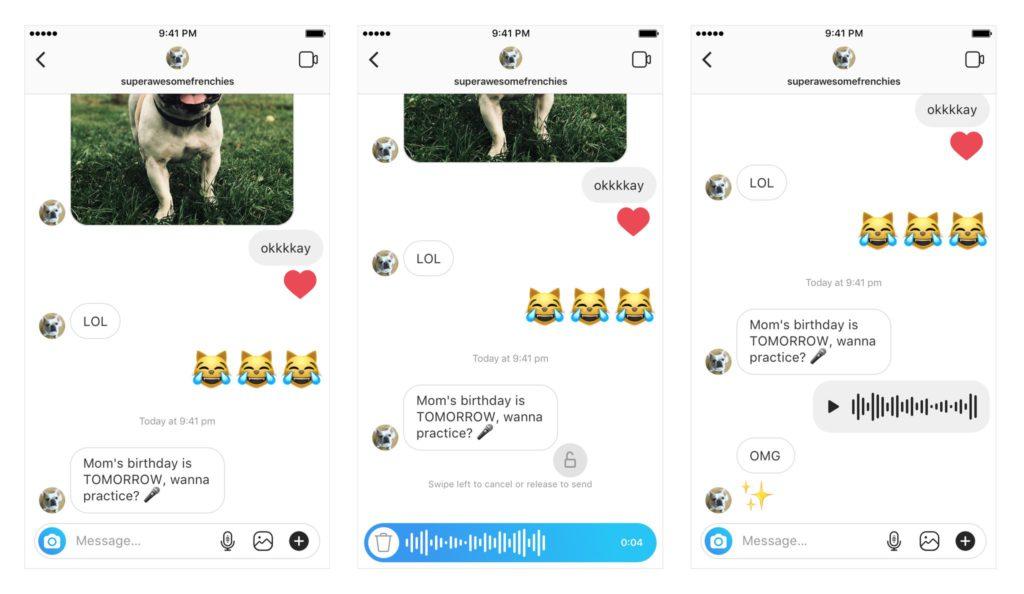 Messaggi Vocali Instagram