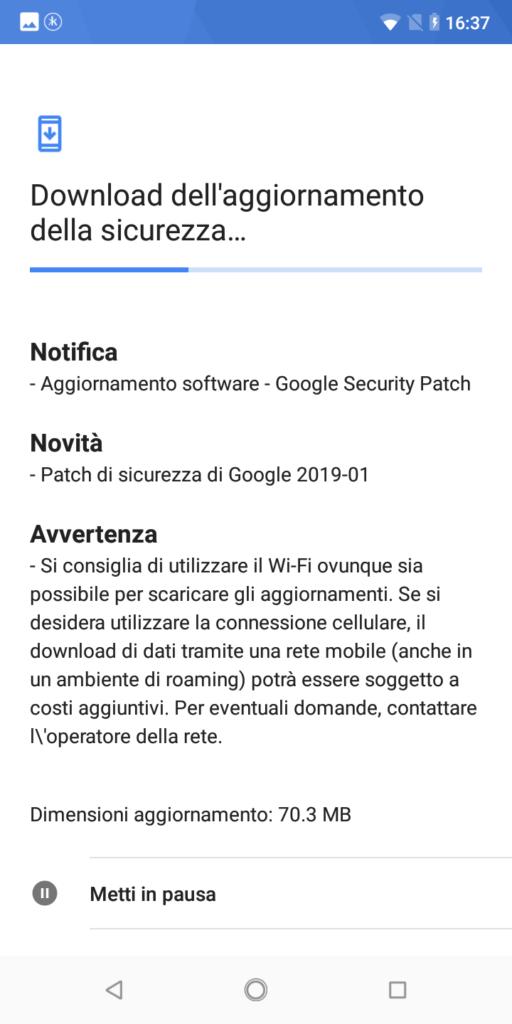 Patch di sicurezza gennaio 2019
