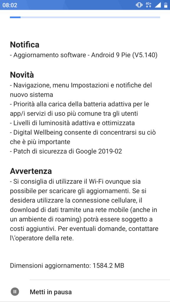 Build v5.140 Android 9 - Nokia 8