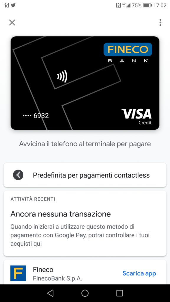 Fineco - Google Pay