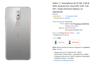 Nokia 7.1 in offerta su Amazon