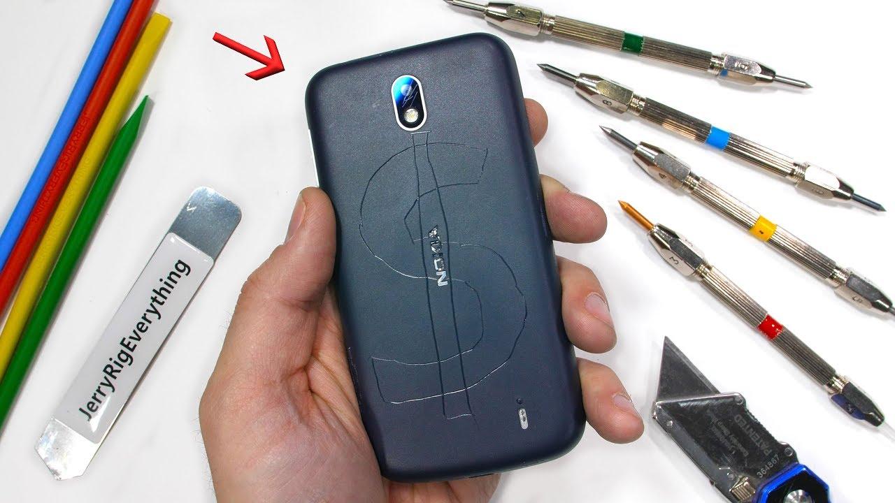 Anche il Nokia 1 finisce sotto le grinfie di JerryRigEverything, e ne esce bene!