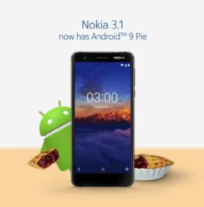 Android 9 Pie - Nokia 3.1