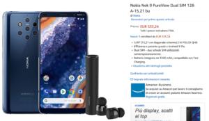 Nokia 9 PureView su Amazon