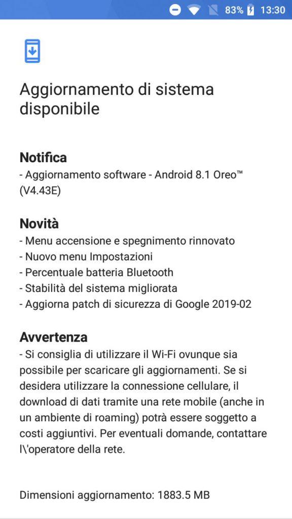 Update Nokia 3 Android 8.1 Oreo v4.43E