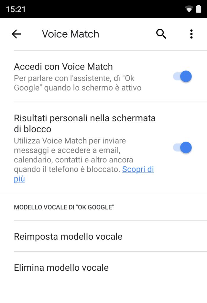 Voice Match - Ok Google