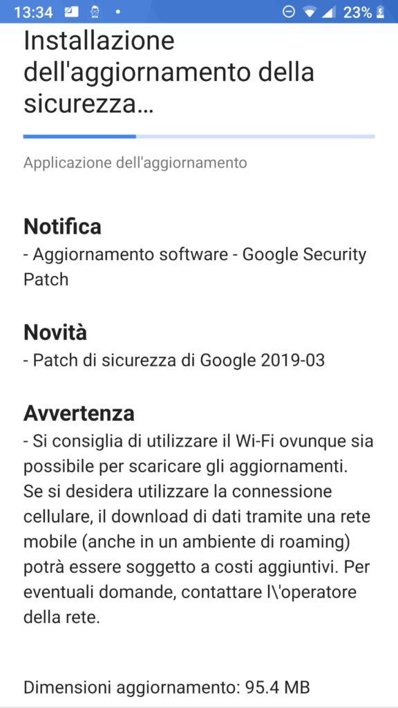 Patch marzo 2019 - Nokia 8