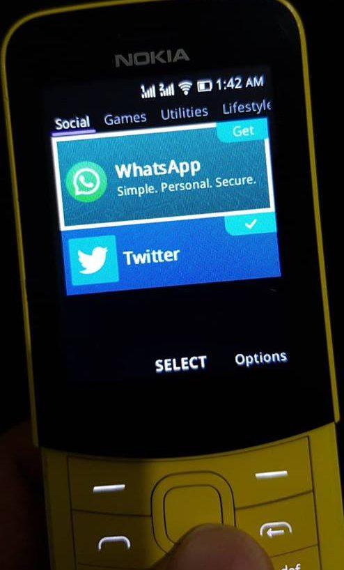 WhatsApp su Nokia 8110 4G