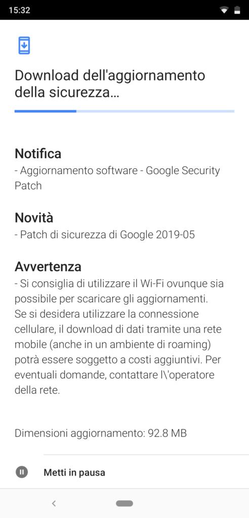 patch di sicurezza di maggio 2019