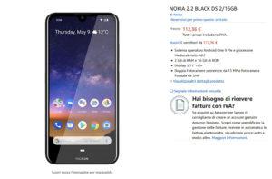 Nokia 2.2 su Amazon