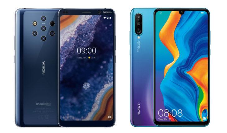 Nokia 9 PureView vs Huawei P30 Pro