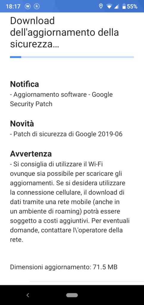 Patch Giugno 2019 - Nokia 4.2