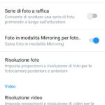 Impostazioni - App Fotocamera