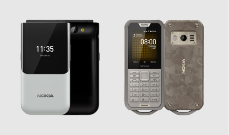 Nokia 2720 Flip e Nokia 800 Tough