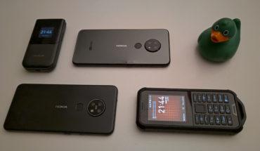 Nokia 2720 Flip, Nokia 6.2, Nokia 7.2 e Nokia 800 Tough