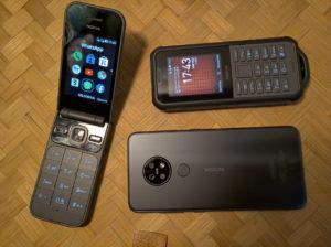 Nokia 7.2, Nokia 800 Tough e Nokia 2720 Flip