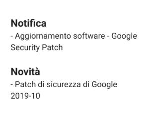 Patch Ottobre 2019