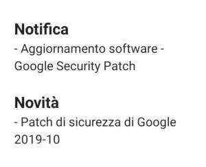 Patch Sicurezza Ottobre 2019