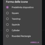 Opzioni Forma delle icone