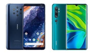 Nokia 9 PureView vs Xiaomi Mi Note 10