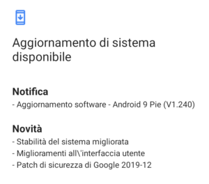 Update v1.240 Android 9